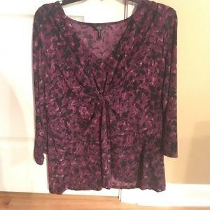 Mauve/purple daisy Fuentes blouse
